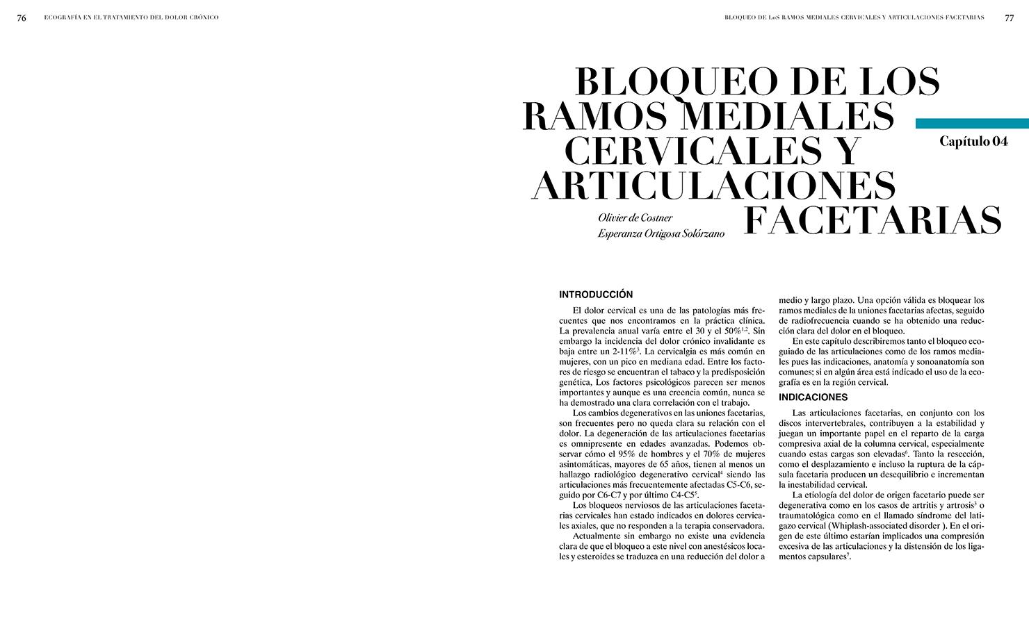 BLOQUEO RAMOS MEDIALES CERVICALES Y ARTICULACIONES