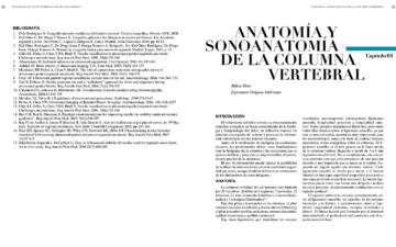 ANATOMÍA Y SONOANATOMÍA DE LA COLUMNA VERTEBRAL.
