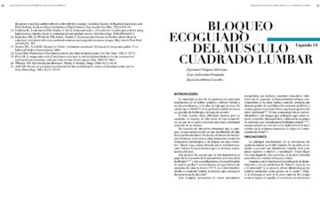 BLOQUEO ECOGUIADO DEL MÚSCULO CUADRADO LUMBAR
