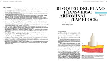 BLOQUEO DEL PLANO TRANSVERSO ABDOMINAL (TAP BLOCK)