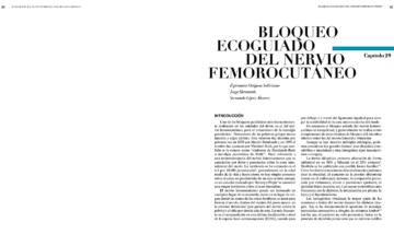 BLOQUEO ECOGUIADO DEL NERVIO FEMOROCUTÁNEO