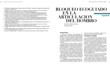 BLOQUEO ECOGUIADO EN LA ARTICULACION DEL HOMBRO