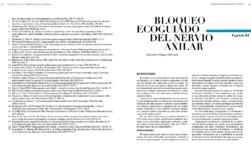 BLOQUEO ECOGUIADO DEL NERVIO AXILAR